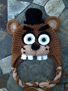 Five Nights At Freddy's Hat Handmade Crochet Hat by ForeverKnotty