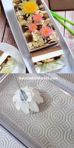 Cake Decorating Videos, Cake Decorating Techniques, Fun Baking Recipes, Dessert Recipes, Dinner Recipes, 3d Jelly Cake, Jelly Desserts, Gelatin Recipes, Dandelion Recipes