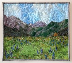 Waterton Wildflowers: 20 x 23 inches. Commission - Wall Hangings