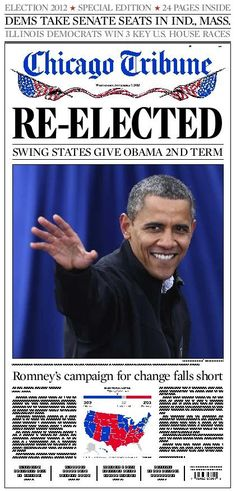 The Internet has even reduced the time we have to wait to see tomorrow's Barack Obama-laden front pages, with Twitter giving us a sneak peek of the morning's coverage.