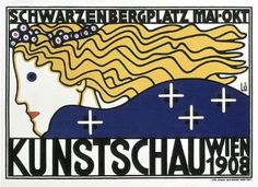 "Berthold Löffler, Poster for the First ""Kunstschau"" Exhibition, Austria, 1908"