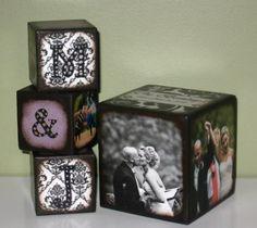 Photo blocks. love this yep will be making these this week!!!!!!