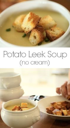 Potato and Leek Soup that you would swear was loaded with cream, but isn't! Gets its creaminess from cauliflower!Includes video tutorial.