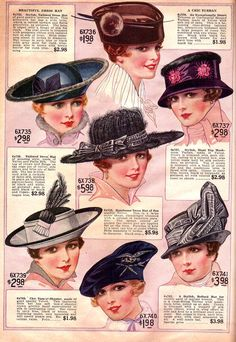 Clearly Vintage: from a Bella Hess catalogue (1917)