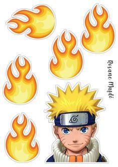 Anime Naruto, Naruto Png, Naruto Uzumaki, Diy Cake Topper, Cake Toppers, Bolo Do Naruto, Naruto Party Ideas, Naruto Birthday, Naruto Painting