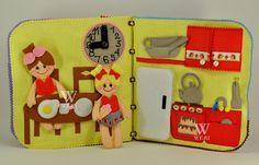 Casa de muñecas libro tranquila / 8 páginas / fieltro libro