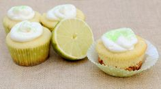 Key Lime Pie Cupcakes have the flavor of the favorite pie in a cute, easy-to-serve cupcake #spring #recipe #cupcakes #keylimepie