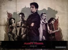 Planet Terror - Wallpaper with Rose McGowan, Marley Shelton, Michael Biehn, Freddy Rodríguez & Naveen Andrews. The image measures 1600 * 1200 pixels and was added on 18 November Freddy Rodriguez, Terror Movies, Danny Trejo, Movie Pic, Elvis And Priscilla, Rose Mcgowan, Movie Wallpapers, Quentin Tarantino, Action Movies