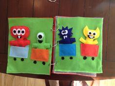 Felt Monster Quiet Book Train Page | GeekyEyes Blog
