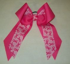 Breast Cancer Awareness Bow - Large Two Color Two Layer - specialties watches tees Breast Cancer Fundraiser, Breast Cancer Walk, Breast Cancer Awareness, Pink Ribbon Crafts, Pink Out, Cheer Bows, Event Planning, Food Ideas, Craft Ideas