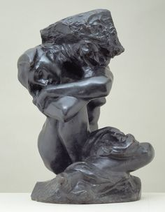 auguste rodin - la cariatide tombée portant sa pierre / the fallen caryatid carrying her stone