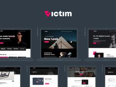 Victim - Digital Agency & freelacers Portfolio Template by creabik Show And Tell, Terms Of Service, Content Marketing, Templates, Digital, Stencils, Vorlage, Inbound Marketing, Models