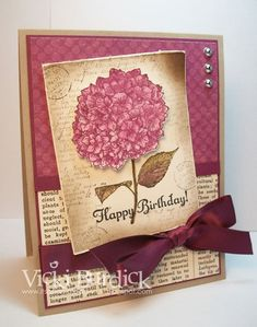 Vintage Birthday by justcrazy - Cards and Paper Crafts at Splitcoaststampers