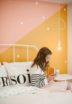 5 Kids Bedrooms You'll Be Totally Jealous Of Dream Rooms, Dream Bedroom, Bedroom Wall, Kids Bedroom, Diy Projects For Kids, Diy For Kids, Half Painted Walls, Bedroom Photography, Big Girl Rooms