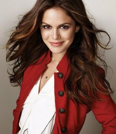Rachel Bilson red and white cute outfit