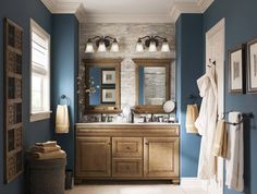 Nice 49 awesome gray and blue bathroom design ideas. Lowes Bathroom, Bathroom Vanity Tops, Bathroom Renos, Bathroom Ideas, Master Bathroom, Bathroom Colors, Bathroom Mirrors, Restroom Ideas, Colors