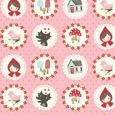 lil_red_cameos fabric by stacyiesthsu on Spoonflower - custom fabric