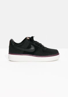more photos 49c8c 1e8aa Other Stories image 1 of Nike Air Force 1 Suede in Black Air Force 1