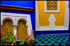 Marrakech Morocco - Majorelle Gardens - Yellow and Tile