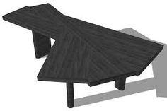 Table en chêne naturel ou teinté noir VENTAGLIO 511, par Charlotte Perriand, éditeur : Cassina