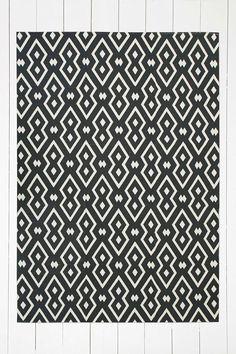 """Teppich """"Salta"""" in Schwarz mit Geodesign, 5 x 7 Fuß"""