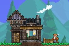 Terraria House Design, Terraria House Ideas, Terraria Tips, Pixel Art Games, Biomes, Game Art, Concept Art, Pokemon, Cool Stuff