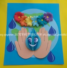 Crafts For College ДЕТСКИЕ ПОДЕЛКИ Earth Day Projects, Earth Day Crafts, Diy And Crafts, Crafts For Kids, Arts And Crafts, Paper Crafts, Kindergarten Art Projects, Kindergarten Activities, Water Crafts Preschool