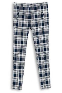 Close & Comfortable Plaid Elastic Pants