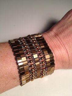 Bronze Tila Cuff Bracelet Selling for $50