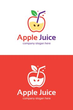 Apple Juice logo is create in illustrator software. It is fully editable and scalable without losing resolution.Logo editable and Food Logo Design, Logo Food, Juice Logo, Machine Logo, Juice Company, Company Slogans, Vending Machine, Apple Juice, Apple Recipes