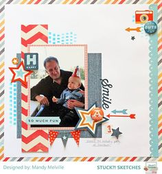 Stuck?! Sketches December 1 2015 challenge DT layout by Mandy