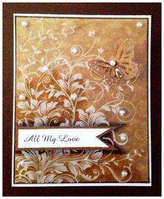 Hero arts leafy vine stamp on acetate