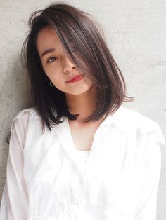 Pin on Hair Haircuts For Medium Hair, Medium Hair Cuts, Medium Hair Styles, Medium Asian Hairstyles, Asian Hair Medium Length, Asian Hair Inspo, Asian Red Hair, Collar Bone Hair, Above Shoulder Hair