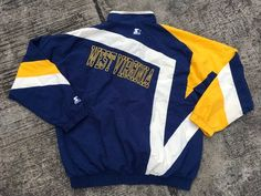 fadb21718 Vintage Starter West Virginia Mountaineers WVU Windbreaker Windbreaker  Jacket