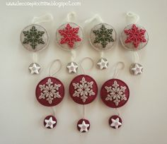 Decorazione natalizia in feltro con gesso : Accessori casa di le-cose-piccinine