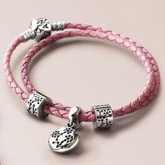 Pandora Leather Bracelet   Pandora 2010 Limited Edition Pink Leather Bracelet