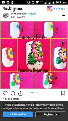 Cute Toe Nails, Cute Toes, Nail Art For Kids, Cool Nail Art, One Stroke Nails, Flower Nail Art, Nail Art Designs, Manicure, Diana