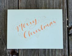 Merry Christmas Card Set Simple Christmas Card by ChampaignPaper