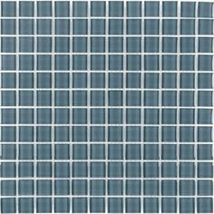 Elida Ceramica Glass Mosaic Arctic Grey Glass Mosaic Square Indoor/Outdoor Wall Tile (Common: 12-in x 12-in; Actual: 11.75-in x 11.75-in)