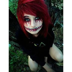 the hair and make-up are awesome Haloween makeup/ costume ❤ liked on Polyvore featuring costumes, daphne scooby doo costume, daphne halloween costume and daphne costume