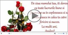 Felicitari muzicale de Sfantul Andrei - La multi ani de Sfantul Andrei! Place Cards, Place Card Holders