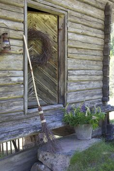 would love a little cottage with siding and a door like this!