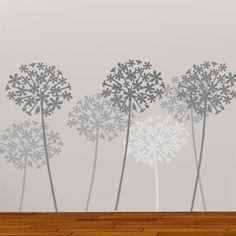 Allium Flower Wall Stencil - Ideal Stencils http://www.idealstencils.co.uk/allium-flower-wall-stencil-1403-p.asp
