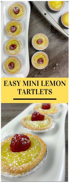 Mini Lemon Tartlets - Design Dazzle I don't think there are many recipes that scream springtime quite like these Mini Lemon Tartlets. The best part is that they are so simple to put together! Easy Easter Desserts, Lemon Desserts, Easter Recipes, Holiday Recipes, Delicious Desserts, Dessert Recipes, Fudge Recipes, Dinner Recipes, Rib Recipes