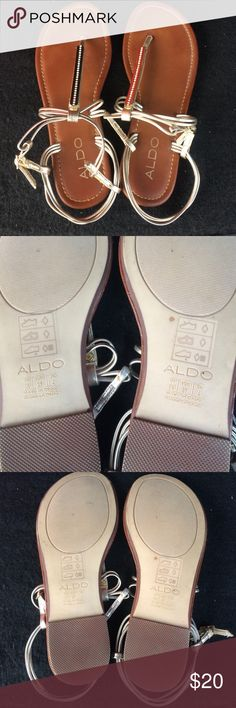 ALDO sandals In great condition summer flip flops. Says US 6.5 and EUR 37. Never worn, but no tags Aldo Shoes Sandals