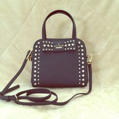 Kate spade Davies Mews small merriam satchel Brand new Kate spade Davies Mews small merriam satchel in the color off shore (navy), includes long strap and dust bag kate spade Bags Satchels