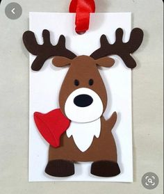 Your place to buy and sell all things handmade Reindeer gift tags / Reindeer Christmas tags / Reindeer favor tags / christmas tags / reindeer party Diy Christmas Tags, Christmas Party Favors, Christmas Wood, Christmas Crafts For Kids, Handmade Christmas, Holiday Crafts, Christmas Ornaments, Reindeer Christmas, Christmas Tables