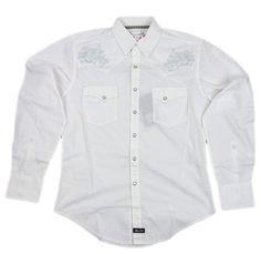 Tan Stripe M WRANGLER Mens EMBROIDERED YOKE Shirt