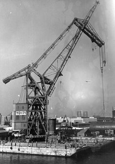 """Herman the German"" huge crane moved to Long Beach, California, from Germany after WWII Long Beach California, California History, Southern California, Herman The German, Harbor City, San Luis Obispo County, Naval History, Beach Pictures, Oilfield Trash"
