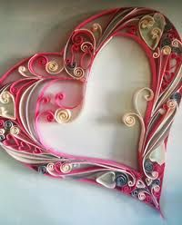 Quilled scroll heart | use similar idea for family tree for center heart!